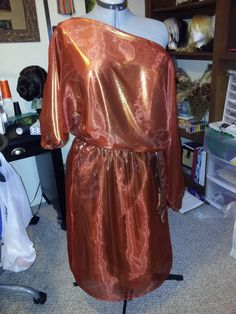 """So I finally managed to get pictures taken of the finished Zuul (Ghostbusters) dress for my friend Megan at Vivid Disaster Studios. Materials Outer -58"""" Casa Collection poly organza Inner - 45"""" Gol..."""