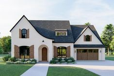 Barn House Plans, Dream House Plans, Dream Houses, Tudor Style Homes, Tudor Homes, Valensole, French Country House Plans, Guest Suite, Curb Appeal