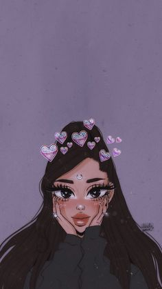 Ariana grande lockdcreen 💗Pinterest // H0enation💗 Ariana Grande Anime, Ariana Grande Drawings, Ariana Grande Cute, Ariana Grande Pictures, Ariana Grande Background, Ariana Grande Wallpaper, Kawaii Drawings, Art Drawings Sketches, Girl Cartoon