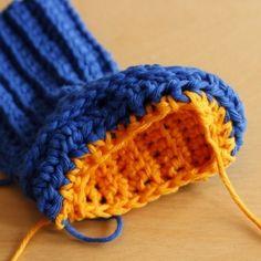 Crochet Baby Booties - Tutorial ❥ 4U // hf
