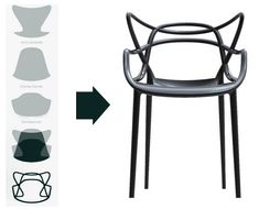 Masters chair rust orange | Kartell chair - Philippe Starck | Objects by
