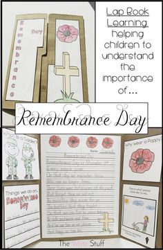 Remembrance Day lap book learning