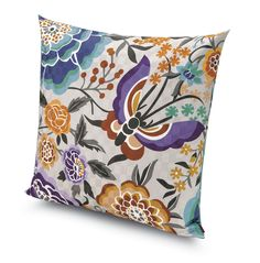 Cushion with floral pattern SAMOA | Cushion - @missonihome