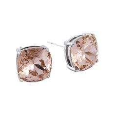 "Origami Owl Custom Jewelry   ""The Clara"" Stud Earrings with Vintage Rose Swarovski Crystals"
