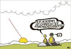 """""""Do you remember when the sun had more rays?""""     The crisis sunfall, FORGES (01/06/2012)     Una puesta de sol en la viñeta de hoy de FORGES.   elpais.com"""