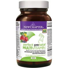 New Chapter Perfect Prenatal Vitamins Fermented with Probiotics Wholefoods Folate Iron Vitamin D3 B Vitamins Organic Non GMO Ingredients 270 ct Trimester Size