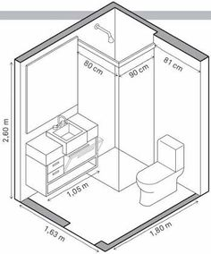 Interiors ref toilet cubicle dimensions interiors bathrooms pinterest - Mini salle de bain 2m2 ...