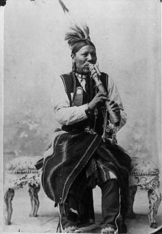Ute Indian playing a flute, from Center of Southwest Studies, Fort Lewis College, Durango, Colorado