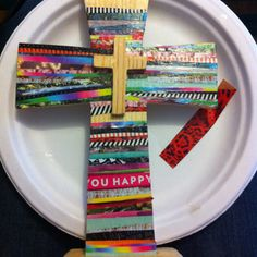 Mod podge and cross from hobby lobby