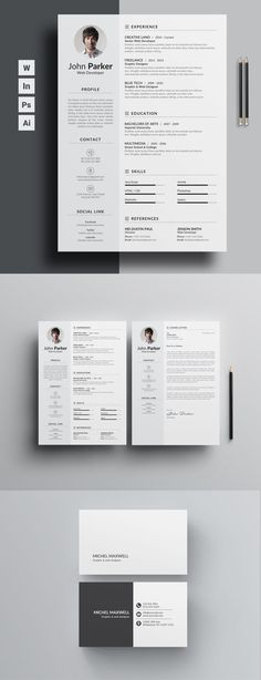 graphic Job Seekers resume for those who really wants to bag the job. No exception, word version with free coverletter and a free cool business card. Download Now! #businesscardmaker
