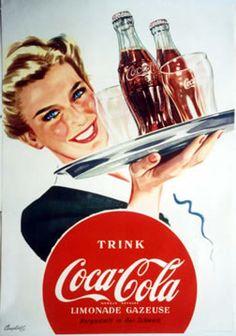 ein-bleistift-und-radiergummi:    Vintage Coca Cola Poster Ad