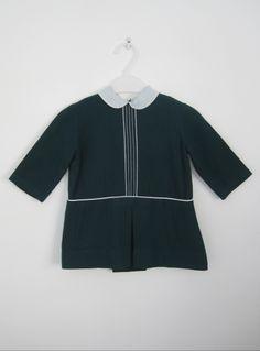 Girls' vintage 1960s wool dress with peter pan collar