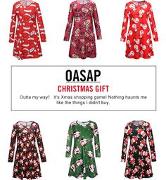 Oasap new GIVEAWAY Event ★ Just FOLLOW and REPIN and @ 3 your friends to choose the your favorite cute dress for Pro-Christmas gift FOR FREE and someone can also get mysterious gift ! Vaild Time: 11/20---12/6