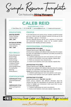 228 Best Resume Templates For Google Docs Images In 2020 Job