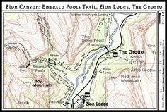 Zion Canyon: Emerald Pools, Zion Lodge, The Grotto