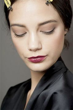7. Move over orange, there's a new colour taking over – introducing you ladies to berry cherry lips. Edgy yet sophisticated, diffuse the colour around the edges and team with natural looking eyes – smudged winged liner + bold lashes