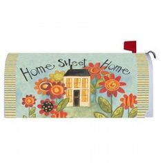 Magnetic Mailbox Cover - Home Sweet Home Magnetic Mailbox Covers, Magnets, Sweet Home, House Beautiful