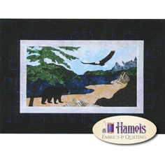 Pacific Coast Wall Hanging Quilted Wall Hangings, Pacific Coast, Quilt Blocks, Mystery, Moose Art, Quilting, Club, Fabric, Tejido