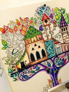 Mine Enchantedforestcoloringbook Johannabasford Treehouse Enchanted Adultcoloring Johanna BasfordEnchanteColoring BookColouringTreehouse