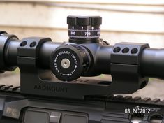 The AADMOUNT 20 MOA Precision Scope Mount for precision/long range AR type rifles offers the most strength, durability, accuracy and repeatability with no-snag clamp design that provides more clamping force than other mounts or tactical rings. Ar Scopes, Firearms, Binoculars, Weapons, Military Guns, Guns, Gun, Arms