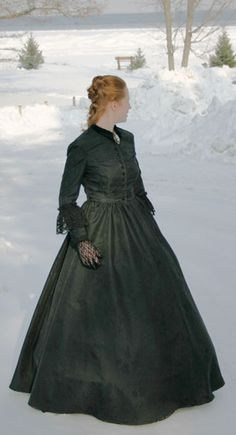Woman in Black costume