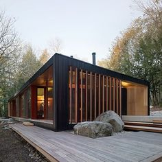 Plans To Design And Build A Container Home - Container House - Clear Lake Cottage by MJMA. - Who Else Wants Simple Step-By-Step Plans To Design And Build A Container Home From Scratch? Residential Architecture, Interior Architecture, Sustainable Architecture, Luxury Interior, Chalet Design, Cabin Design, Cottage Design, Building A Container Home, Container Homes