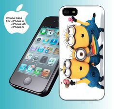 Despicable Me Minions Party - iPhone 4 case iPhone 4s case iPhone 5 case hard case. OMG!! I need this!