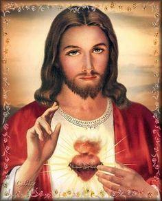Jesus Christ Painting, Jesus Art, Heart Of Jesus, Jesus Is Lord, Jesus E Maria, Flame Art, Pictures Of Jesus Christ, Christ The King, Religious Images
