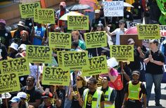 Greenpeace and partner Civil Society organisations marched in Jozi for a nuclear-free SA