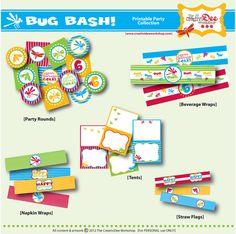 Bug Bash - Backyard Bug Party - DIY Printable Birthday Party Collection via Etsy