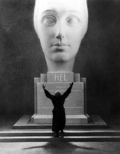 Rudolf Klein-Rogge in production still from Metropolis (1927, Fritz Lang) Photo by Horst von Harbou.