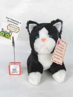 "New Plush 7"" FELIX Purina Black Cat Doll Pets People Brings Love Home Plush 1994 #Purina"