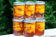 Brandied Summer Peaches all canned up and waiting for winter...