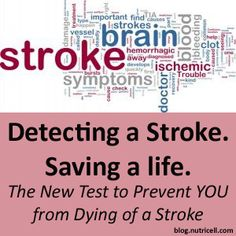 Detecting a Stroke. Saving a life. The New Test to Prevent YOU from Dying of a Stroke