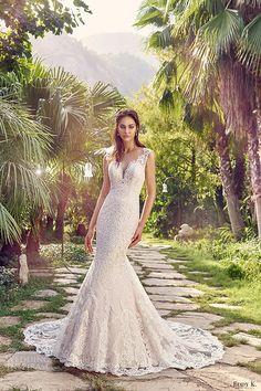 eddy k bridal 2017 sleeveless thick straps sweetheart mermaid lace wedding dress (marina) mv romantic elegant