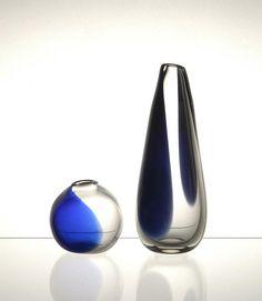 Hans Theo Baumann, one-off vases for Lamberts, 1950. Germany. Neue Sammlung München, Photo: A. Lorenzo. Exhibition 2009.