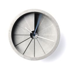 A fairly gorgeous clock made from an unexpected material–concrete. The Fourth Dimension wall clock, which takes its form from a spiral staircase, was designed by the Taiwanese industrial design studio, 22 Design Studio.
