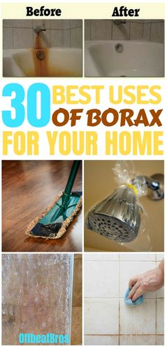 Borax is a great cleaner for your home with the cleaning hacks it has. Cleaning hacks for borax borax ranges from cleaning tings around your home to even cleaning pests from your home. These Awesome cleaning hacks for borax are must for anyone who has que Borax Cleaning, Bathroom Cleaning Hacks, Toilet Cleaning, House Cleaning Tips, Green Cleaning, Spring Cleaning, Laundry Hacks, Cleaning Recipes, Window Cleaning Tips