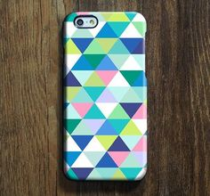 Blue Green Triangle iPhone 6s Case iPhone 6s Plus Case iPhone 6 Cover iPhone 5S 5 iPhone 5C Samsung Galaxy S6 Edge Galaxy s6 s5 s4 Galaxy Note 5ÌâåÊNote 4 Case 137