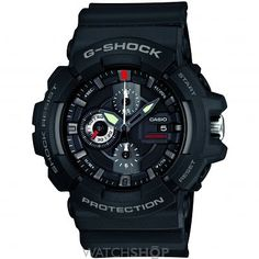 Casio Men's G-Shock Black Resin Analog Chronograph Watch. chronograph Date display. Water resistant to 660 feet M): suitable for recreational scuba diving. Men's Watches, G Shock Watches Mens, G Shock Men, Watches For Men, Jewelry Watches, Wrist Watches, Sport Watches, Luxury Watches, Casio G-shock