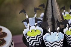 Cupcakes ideales para una fiesta bruja / Ideal cupcakes for a witch party