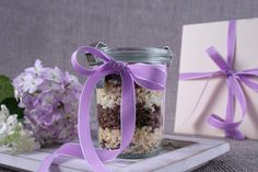 baking mixture in a glass - a creative present