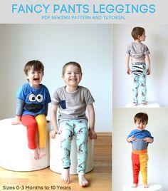 Titchy Threads - Fancy Pants Leggings - PDF Pattern. Beginner knits pattern!