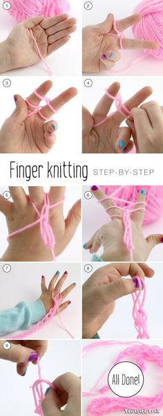 A step by step guide to finger knitting for kids