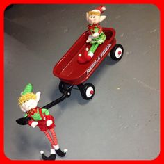 Day 20: Buddy taking Jovie for a wagon ride in their Radio Flyer!