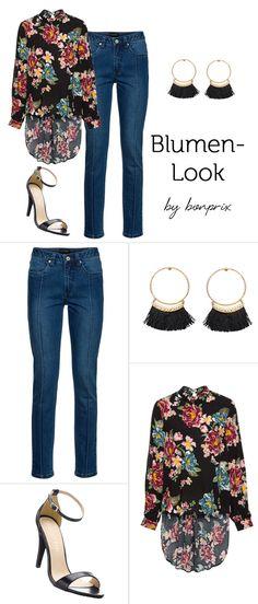 Blumenbluse zur Jeans - schöner Sommer-Look fürs Büro