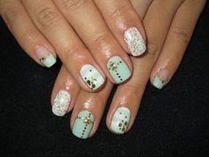 Light Green Summer Mix Nails | ♥Cute Nail Design♥