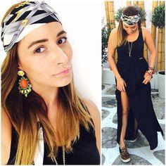 Total black ◼️◾️▪️ #kisterss #mykonos #summer #mitsumitsu #earrings  #annaritan #skirt  #oneteaspoon #top  #shoessante #blackoutfit #eyelovish #bracelets  #opstyle ⚫️