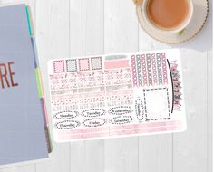 Pinning for later! These stickers are perfect. Available at Crafted By Corley on Etsy. Winter Blossom - Transform My Planner Happy Planner Sticker Sticker Set Weekly View Sticker for use with ERIN CONDREN LifePlanner by CraftedByCorley
