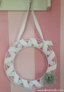 hairbow ribbon wreath holder
